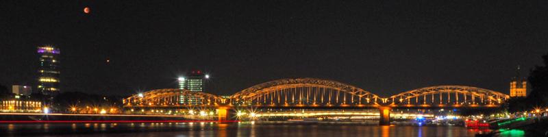 Blutmond über Köln, die Mondfinsternis 2018